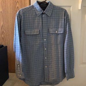 Long sleeve Hilfiger button up shirt.